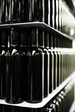 Dark Brown Empty Wine Bottles