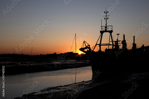 Photo Sunset at Old Leigh, Leigh-on-Sea, Essex, England