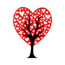 Valentine Tree. Leaf From Hear...