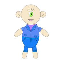 The Cyclops Little Cute. Vecto...
