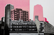 Architecture Collage With Negative Space