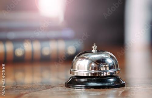 Fotomural Shot of a Desk Bell in hotel.