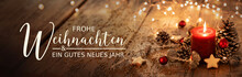 Christmas Card  -  Merry Christmas And Happy New Year  - German Text