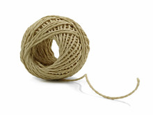 Skein Of Jute Twine Isolated W...