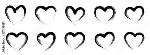 Fotomural Grunge heart shape