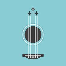 Vector Guitar Flat Style Illus...