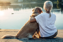 Blonde Girl With Dog From The ...