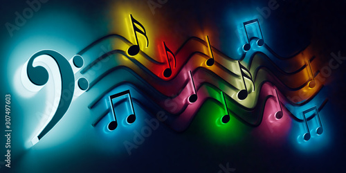 Cuadros en Lienzo Fondo musical