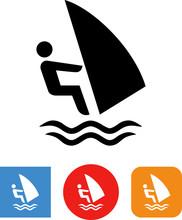 Windsurfing Water Sport Vector...