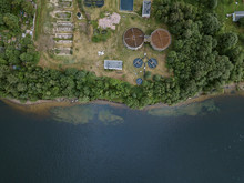 Aerial View Of Hydroelectric S...