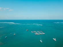 Aerial View Of Seascape Agains...
