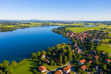 Riegsee Lake By Village In Upper Bavaria, Germany
