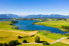 Riegsee Lake In Bavarian Alps ...