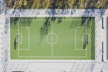 Aerial View Of Soccer Field, M...