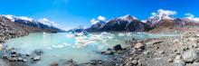 Scenic View Of Tasman Lake, South Island, New Zealand