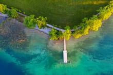 Aerial View Of Boat Dock Kalte...