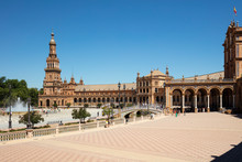 Plaza De Espana Against Clear ...