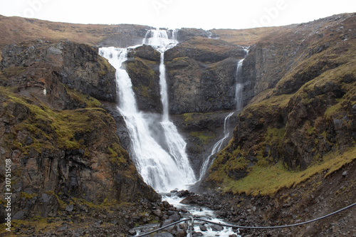 a Waterfall in Eastern Iceland - rjukandafoss