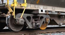 Train Car Wheels Detail Shot. ...