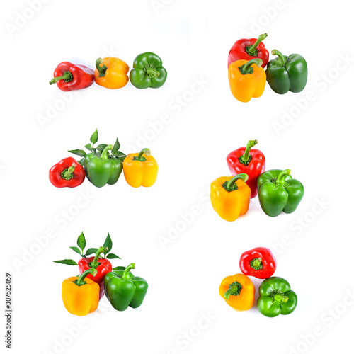 Cuadros en Lienzo  pepper isolated on white background