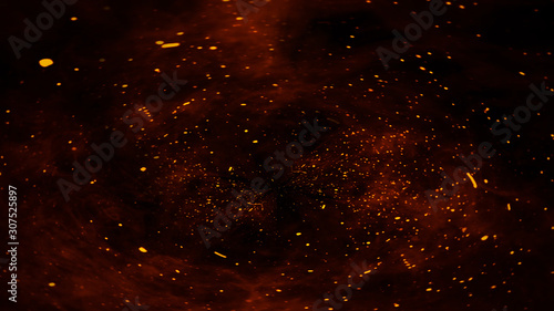 Valokuva Fire embers particles texture overlays