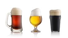 Red Light And Dark Beer Glasse...