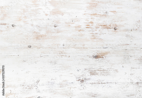 Rustic White Painted Wood Texture Background