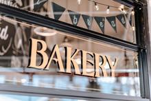 'Bakery' Text On Shop-window In Granville Island Public Market