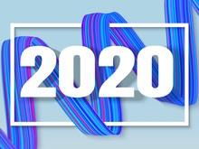 Happy New 2020 Year, White 3d ...