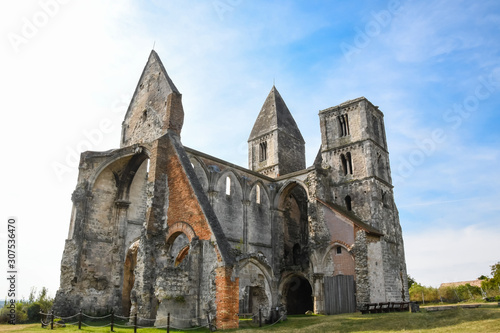 Zsambek Church Ruins, situated near Budapest, Hungary. Construction started in 1220, it was rebuilt after that, then an earthquake in 1763 ruined the church once again.