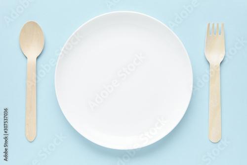皿とフォークとスプーン Tablou Canvas
