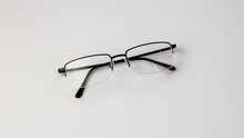 Eyeglasses On White Background...