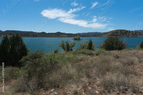 Southwest New Mexico's Bill Evans Lake. Canvas Print