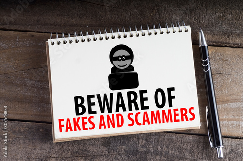 Beware Of Fakes And Scammers Canvas Print