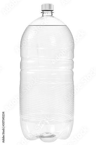 Obraz na plátně  Closed bottle plastic of drinking water isolated on white background