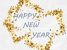 Happy New Year 2020, White Text