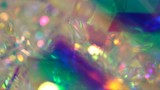 Fototapeta Rainbow - Blurry Holographic Iridescent Gradient Rainbow Abstract Glare Holiday  Background