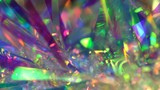 Fototapeta Rainbow - Neon pastel, hologram and rainbow colors. Abstract gradient. Holiday  Background