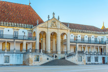 View Of The University Of Coimbra In Portugal