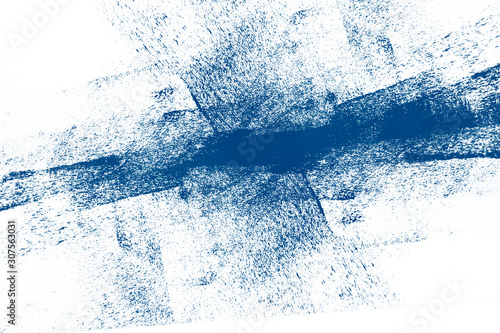 Fototapety, obrazy: classic blue winter snow and white hand painted background texture with grunge brush strokes6 color of the 2020 year