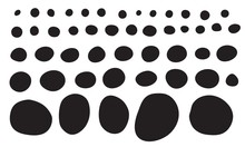 Doodle Shapes Collection. Blac...