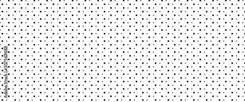 obraz PCV Simple irregular polka dot pattern background. Big and small dots seamless background