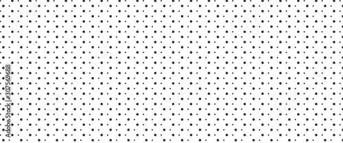 fototapeta na lodówkę Simple irregular polka dot pattern background. Big and small dots seamless background