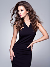 Beautiful Woman With Long Brow...
