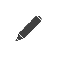 The Marker Vector Icon. Filled...