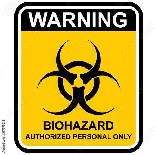 biohazard warning sign Wallpaper Mural