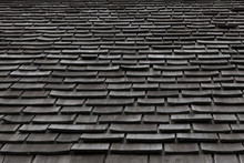 Grey Slate Roof Tiles Backgrou...
