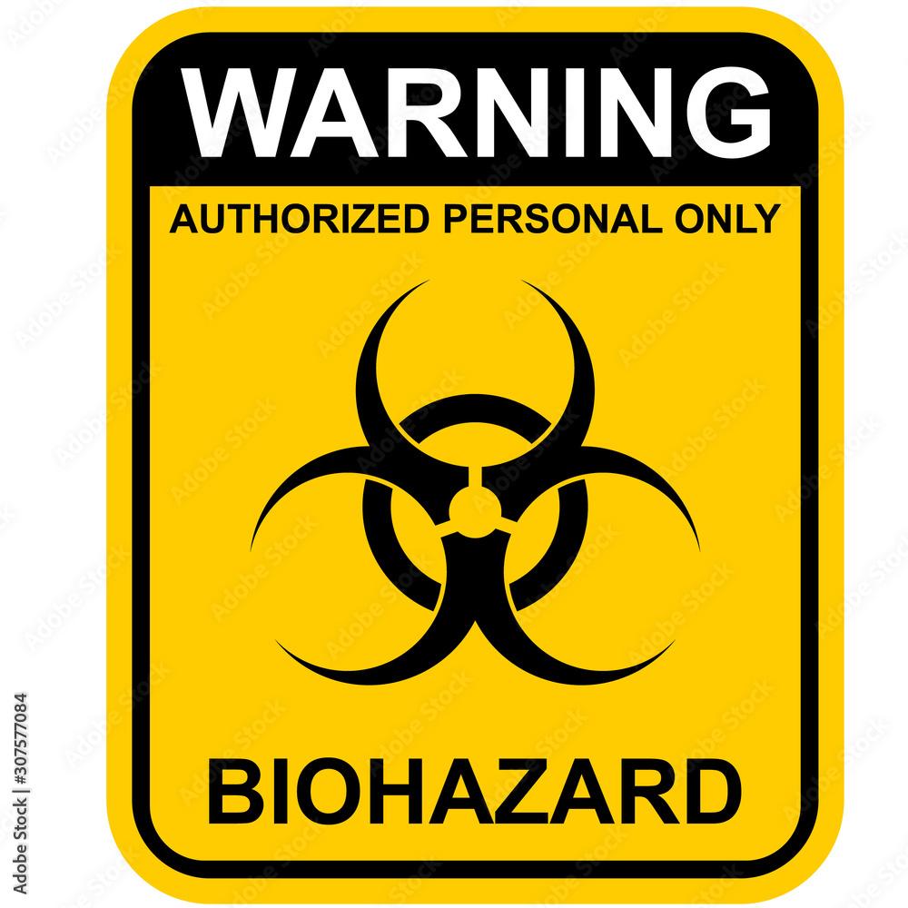 Fototapeta biohazard warning sign