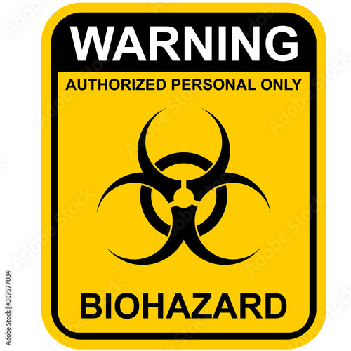 biohazard warning sign Canvas Print