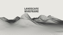 Abstract Wireframe Background....